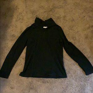 Black fleece quarter zip